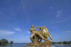 Statue in the park of Schwerin Royalty Free Stock Photography