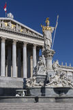 Statue at the Parliament Buildings - Vienna - Austria royalty free stock photos