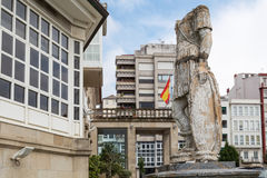 Statue past Ferrol Galicia, Spain Royalty Free Stock Photography