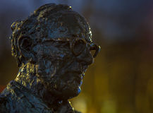 Statue of Patrick Kavanagh Royalty Free Stock Photo