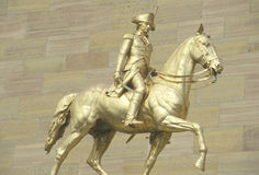Statue of patriot on horseback Royalty Free Stock Image