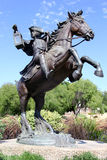 Statue of a Patriot. Statue of Paul Revere on his midnight ride located in Heritage Park, Cerritos, CA Stock Images