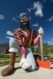 Statue of Paul Bunyan the giant lumberjack Stock Image