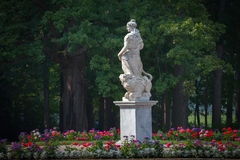 Statue of Pax, Garden of Pavlovsk Palace. St. Petersburg. Russia Stock Images