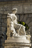 Statue of peace. Udine, Friuli, Italy. Statue of Peace in Freedom Square. Without Making by Napoleon Bonaparte Stock Photo