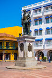 Statue of Pedro de Heredia in the beautiful Stock Images