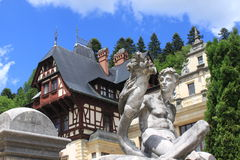 Statue at Peles Palace Stock Photography