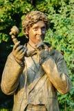 Statue pendant le festival international des statues vivantes Image libre de droits