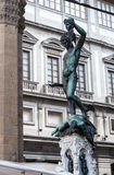 Statue of perseus with head in hand. Florence. Royalty Free Stock Images