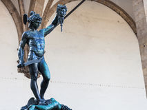 Statue Perseus with the Head of Medusa on Piazza Royalty Free Stock Photography