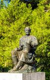 Statue of Petar II Petrovic-Njegos in Podgorica Stock Photography