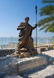 Statue of Peter. CAPERNAUM, ISRAEL - OCT 02: Statue of apostle Peter near the waterside of Capernaum on the sea of Galilee, October 02, 2014 in Israel royalty free stock images