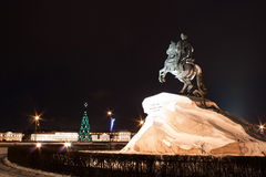 Statue of Peter the Great in Saint-Petersburg Stock Images