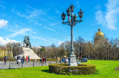 The statue of Peter the Great Royalty Free Stock Photos