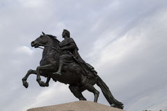 The statue of peter the great in st peterburg Royalty Free Stock Photos