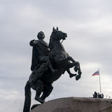 The statue of peter the great in st peterburg Stock Photography