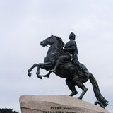 The statue of peter the great in st peterburg Stock Images
