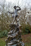 Statue of Peter Pan Stock Images