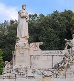 Statue of petrarch, arezzo, italy Stock Image