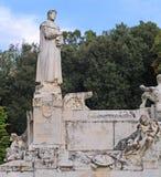 Statue of petrarch, arezzo, italy Stock Image