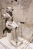 Statue of a Pharaoh. Pharaoh statue at the Karnak Temple, Luxor, Egypt Royalty Free Stock Photography