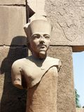 Statue of a Pharaoh. Pharaoh statue at the Karnak Temple, Luxor, Egypt Stock Images