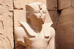 Statue of Pharaoh. In Karnak temple in Luxor royalty free stock photography
