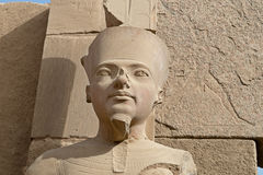 Statue of pharaoh in Karnak temple Royalty Free Stock Photo