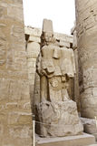 Statue of pharaoh in karnak temple Stock Image