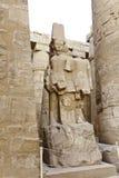 Statue of pharaoh in karnak temple Stock Image