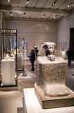 Statue of pharaoh Senenmut and princess Nefrura in Egyptian muse. BERLIN, GERMANY - APRIL 7: Statue of pharaoh Senenmut and princess Nefrura  in egyptian museum Stock Photography
