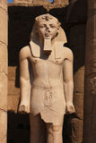 Statue of Pharaoh in a temple near Luxor in Egypt Royalty Free Stock Image