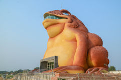 Statue of Phaya Kan Kark (or Toad King) Royalty Free Stock Images