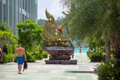 Statue at Phi Phi Island stock photography