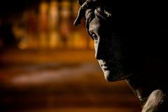 Statue with Philadelphia Museum of Arte Royalty Free Stock Photos