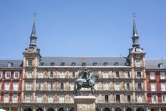 Statue of Philip III at Plaza Mayor, Madrid, Spain Stock Photo