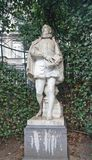 Statue of Philips of Marnix (circa XIX c.), Brussels, Belgium Royalty Free Stock Photo