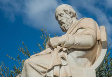Statue of the philosopher Plato. A statue of Plato in Athens Greece Royalty Free Stock Image