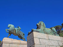The statue of Physical Energy at the base of Rhodes Memorial in Cape Town, South Africa Royalty Free Stock Images