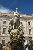 Statue in Piazza Archimede, Siracusa, Sicily. Beautiful Statue in Piazza Archimede, Siracusa, Sicily Royalty Free Stock Images