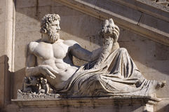 Statue in Piazza del Campidoglio, in Rome Royalty Free Stock Photos