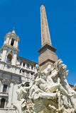 Statue in Piazza Navona Royalty Free Stock Photos
