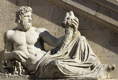Statue Piazza Venezia - Roma, Italia. Royalty Free Stock Photo