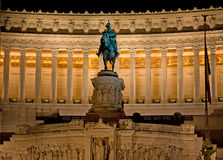 Statue on Piazza Venezia Rome Royalty Free Stock Photos
