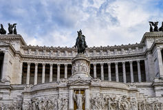 Statue at Piazza Venezia Royalty Free Stock Image
