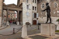 Statue of Pictet de Rochemont, Geneva royalty free stock photo