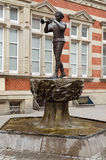 Statue of the Pied Piper. In Hamelin, Germany Stock Photos