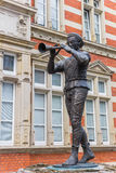 Statue of the Pied Piper of Hamelin in Hameln Royalty Free Stock Photography