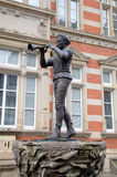 Statue of Pied Piper (Rat-Catcher) of Hamelin. Stock Photos