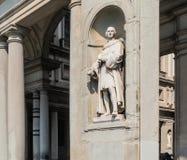 Statue of Piero Capponi, Uffizi Gallery Museum. Tuscany, Italy. Stock Images
